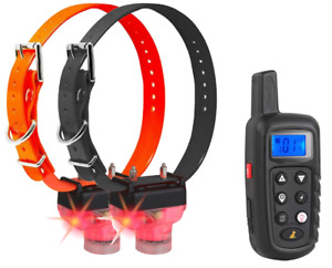 CleverDog PT-288 T&B Dog Training Collar w/ Beeper Tracker for Hunting, 2 Dogs