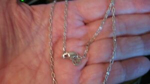"""NWOT JOHN ATENCIO STERLING SILVER CHAIN/NECKLACE, 18"""""""