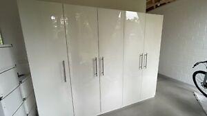 IKEA PAX Kleiderschrank weiß mit hochglanz Flügeltüren