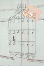 Schlüsselbrett in antikweiß, Hakenleiste im Shabby Chic Stil mit 18 Haken