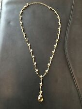 18in Gold New In Box Avon Extraordinary Briolette Vine Necklace