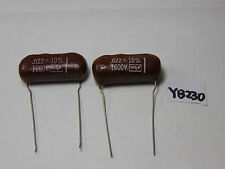 VINTAGE ELECTRONIC CAPACITOR NOS CDM BUFFER .022 +- 10% 1600 VOLT LOT OF 2