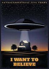 More details for i want to believe - 1 x poster a4, a3, a2 sizes available p3 - no frame ufo