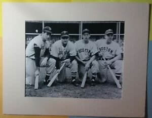 Ted Williams Dom DiMaggio Doerr Boston Red Sox 14 x 11 Historic Matted Photo