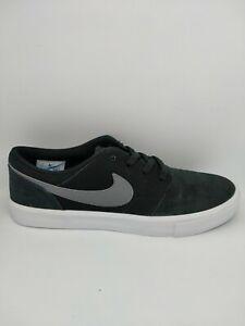 Nike SB Solarsoft Portmore II Unisex Skate Shoe - Black/White/Blan - US 8 Men's