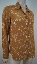See By Chloe cuivre Rouille & CREAM Cherry Heart Print blousetop FR38; GB10