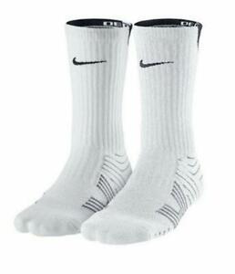 1pr Nike Performance Boys 3Y-5Y Crew Football Socks White SX4563 FAST SHIP! EA4
