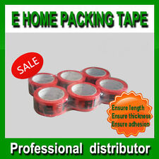 36 x Heavy duty Red FRAGILE sticky packing tapes, 48mm x 75 meter, 45 micron