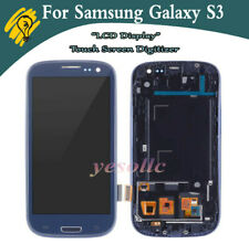 UK For Samsung Galaxy S3 i9300 Screen Replacement LCD Digitizer Touch + Frame