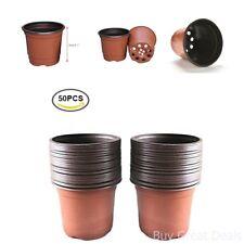 Kinglake 50 Pcs 6in Plastic Plants Nursery Pot/Pots Seedlings Flower Plant