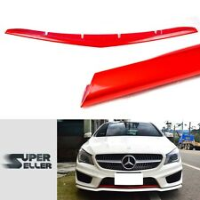 Painted #Red Mercedes BENZ CLA-Class W117 C117 4DR Sedan Front Bumper Lip Cover