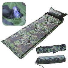 Camouflage Self Inflating Pillow Camping Roll Mat/Pad Sleeping Bed Mattress +Bag