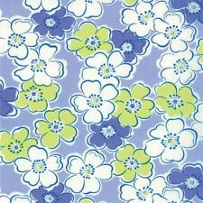 MODA FABRIC GIGGLES FLOWERS ON PURPLE COTTON FABRIC BTY