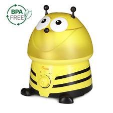 Crane Ultrasonic Cool Mist Humidifier for kids, BONUS Filter, Bumblebee
