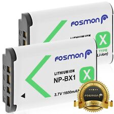 2x Fosmon 1600mAh NP-BX1 Replacement Battery Sony DSC-RX1 DSC-RX100 DSC-HX300