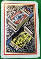 Playing Cards 1 Single Card Old ENGLANDS GLORY + MORELANDS MATCHES Advertising