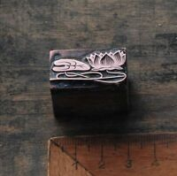 SEEROSE Kupferdruckstock Galvano Druckstock Klischee Jugendstil Art Nouveau Deco