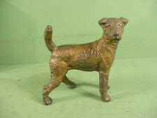 Antique National Foundry Fox Terrier Figural Dog Cast Iron Doorstop~Heavy 6 lb