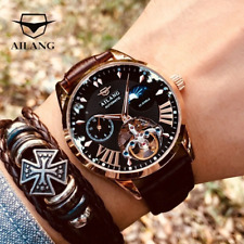 AILANG Quality Tourbillon Men's Watch Men Moon Phase Automatic Swiss Diesel Watc