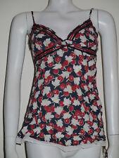 Karen Millen cherry print cotton strappy vest top size 8