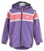 HELLY HANSEN Girls Windbreaker Jacket 6-7 Years Purple Polyamide  JY10