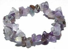 Bracelet pierres naturelles en chips d'améthyste