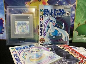 Japanese Pokemon Silver Game Boy Color With Box and Manuals