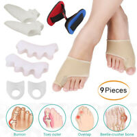 2/9PC Bunion Corrector Kit Hallux Valgus Toe Separator Straightener Pain Relief