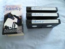 MONTY ROBERTS - FOLLOW UP: DAYS ONE THRU FOUR - (3 VHS TAPE SET)