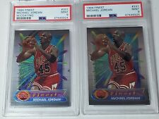 1994-95 Topps Finest #331 Michael Jordan With and Without Coating PSA 9 Mint HOF