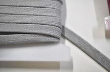 Kordel 100% Baumwolle Hoodie Sweatshirt Short Nähen 1 Meter flach grau