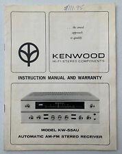 Kenwood Model KW-55AU Automatic AM-FM Stereo Receiver HI-FI Instruction Manual