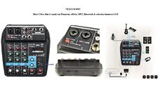 TECHNOSOUND NEXT4 B/MP3 Mixer 4 canali + Phantom Effetto Bluetooth +Ingresso USB