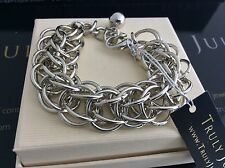 Gorgeous Designer Link Chunky Chain Silver Bracelet - Gift Packaged
