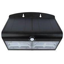 Specter LED Solar Power Wall Light 800lumen Black 6.8W Outdoor Lighting