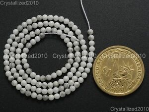 """Natural White Turquoise Gemstone Round Beads 2mm 4mm 6mm 8mm 10mm 12mm 15.5"""""""