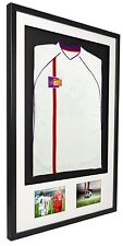 More details for vivarti 3d mounted+double aperture sports shirt display frame kit-football,rugby