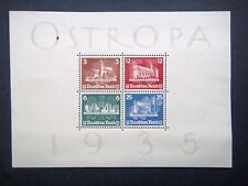 Germany Nazi 1935 Stamps MINT Wmk Sheet Konigsberg Exhibition Swastika Eagle Thi