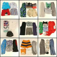Huge Lot 2T Boys Clothing Toddler Mixed Collection Outfits Tops Pants Shirts PJ