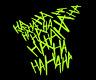 Neon Gelb Aufkleber HAHAHAHA Batman Joker Auto Sticker JDM Schocker Gotham