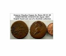 T585:  Emperor Claudius AE As.  Rome, AD 41 – 42.  Spink 1857