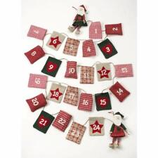 Heaven Sends Fabric Santa Christmas Advent Garland Calendar - Home Decoration