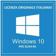 LICENZA WINDOWS 10 PRO PROFESSIONAL 32/64 BIT CODICE ORIGINALE ESD