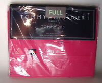 TOMMY HILFIGER 200 Cotton FULL Size Flat Solid PINK Bed Sheet NEW NWT