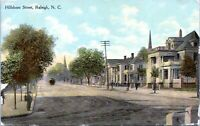 1910 Raleigh North Carolina Hillsboro Street View Postcard KA
