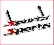 Deportes Rojo Negro Parrilla Delantera Metal emblema del coche de para todos los coches Tuning Insignia Reino Unido Vendedor