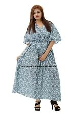 Casual Maxi Plus Length Cotton Women Long Dress Gown Caftan Night Beach Wear 4X