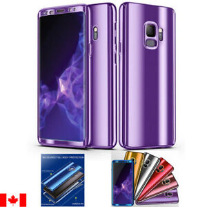 360° Plating Case Slim Mirror Full Cover For Samsung Galaxy S10 S9 S8 & Plus