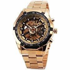 BEST SELLING RUSSIAN SKELETON Luxury Mens Automatic Mechancial Wrist Watch Strap