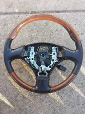 1999 2000 2001 02 03 Lexus RX300 Steering Wheel Black Leather and Wood Used OEM